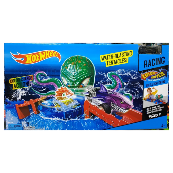 "Игровой комплект Hot Wheels Racing Color Shifter Cuttlefish Fichting ""Атака Осьминога"""