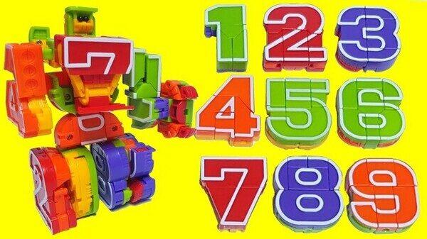 Игровой набор 10 в 1 Transform Numbers Цифровые Трансформеры (6)